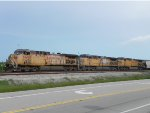 UP 6688, UP 5996 and UP 6653 lead NB Empty Grain Train